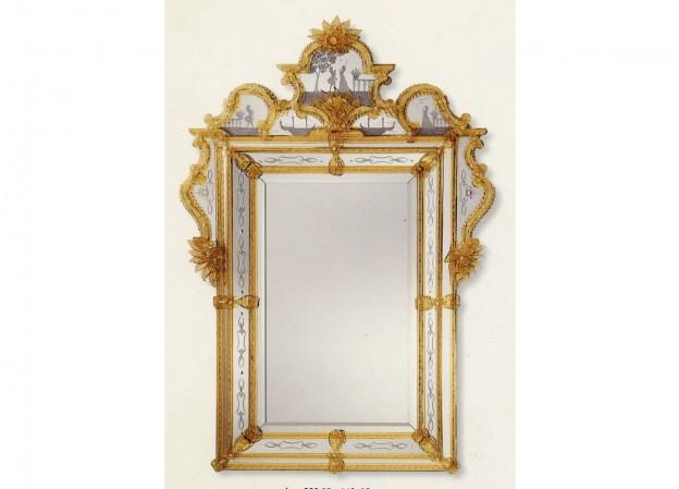 Handmade Venetian mirrors Antichi Angeli Murano glass artistic works