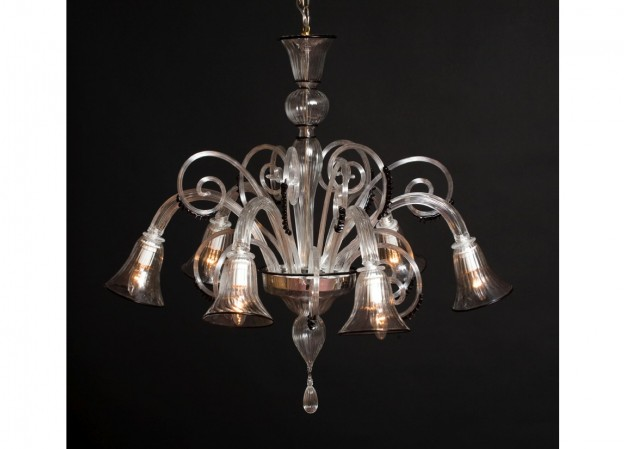 Handicraft Venetian chandelier CALLA Murano glass artistic works