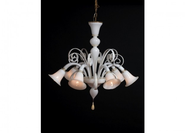 Handicraft Venetian chandelier CLARO Murano glass artistic works