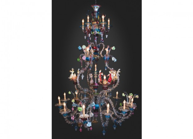 Handicraft Venetian chandelier DUCALE Murano glass artistic works