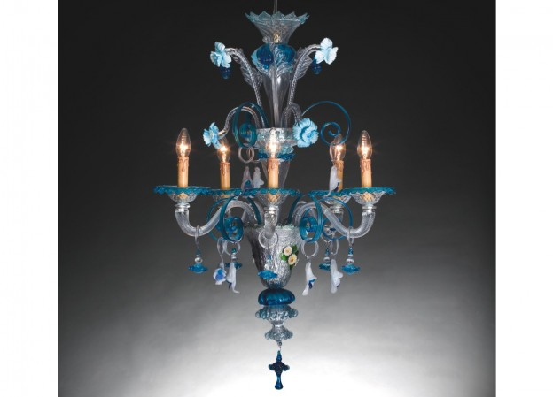 Handicraft Venetian chandelier FOSCARI 1 Murano glass artistic works