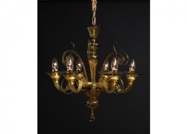 Handicraft Venetian chandelier MICRO Murano glass artistic works