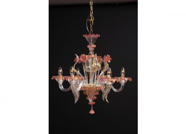 Handicraft Venetian chandelier MIGNON Murano glass artistic works