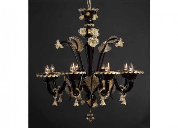 Handicraft Venetian chandelier SATURNO Murano glass artistic works