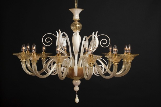 Handicraft Venetian chandelier SIRIO Murano glass artistic works