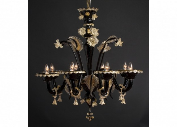 Handicraft Venetian chandelier URANO Murano glass artistic works