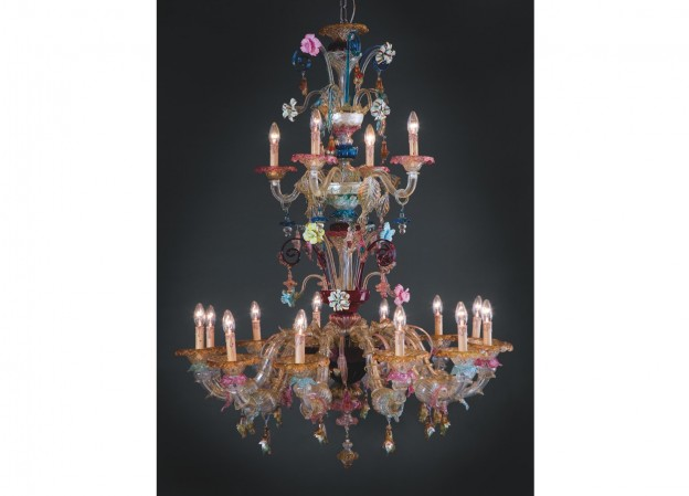 Handicraft Venetian chandelier VENDRAMIN Murano glass artistic works