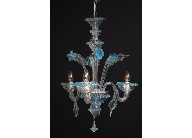 Handicraft Venetian chandelier VENUS Murano glass artistic works