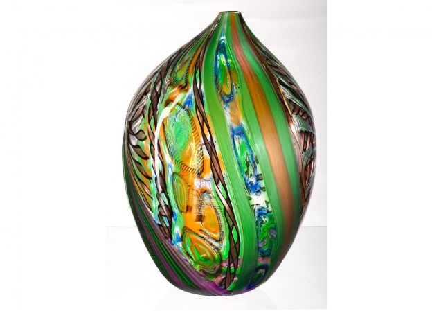 Handicraft Venetian glass vase CR1479 Murano glass artistic works