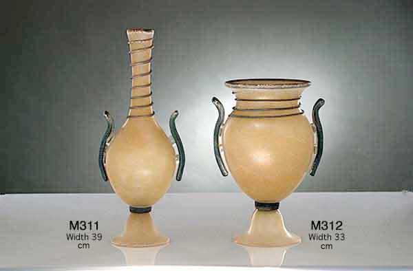 Handicraft Venetian glass vase M311 Murano glass artistic works