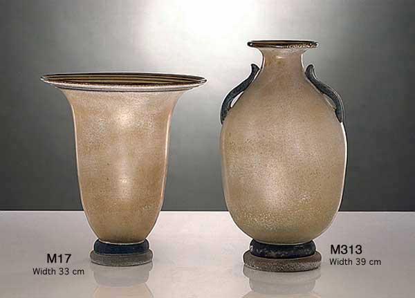 Handicraft Venetian glass vase M313 Murano glass artistic works
