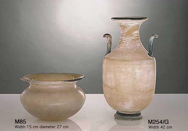 Handicraft Venetian glass vase M85 Murano glass artistic works