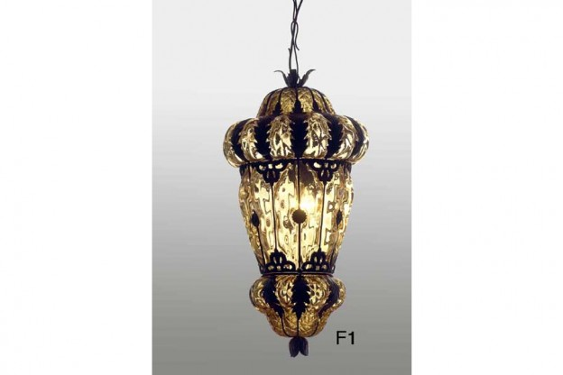 Handicraft Venetian lantern F1 Murano glass artistic works