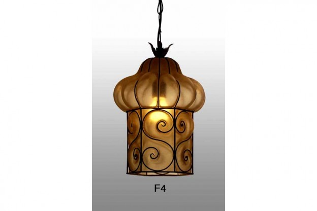 Handicraft Venetian lantern F4 Murano glass artistic works
