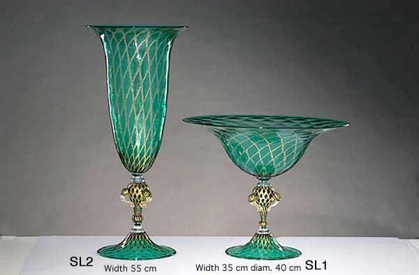 Handmade Venetian glass S1 Murano glass artistic works