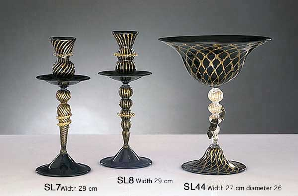 Handmade Venetian glass SL7 Murano glass artistic works