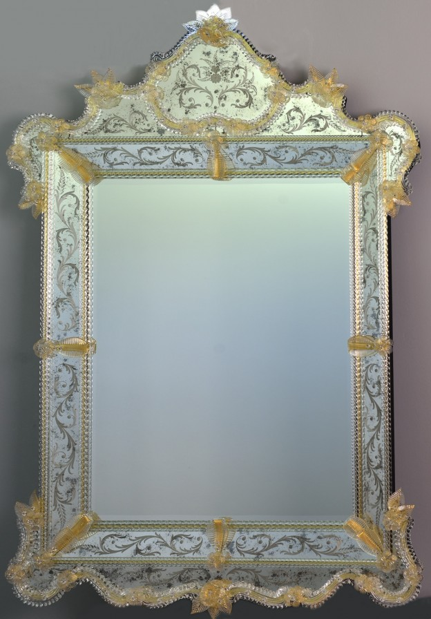 Handmade venetian mirror SP04 Murano glass artistic works