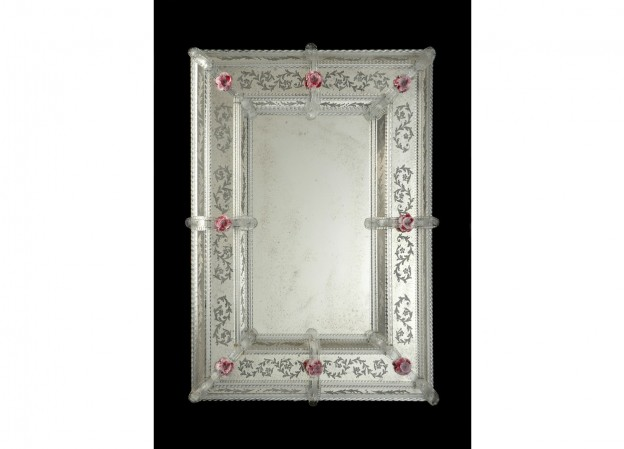 Handmade venetian mirror SP23 Murano glass artistic works