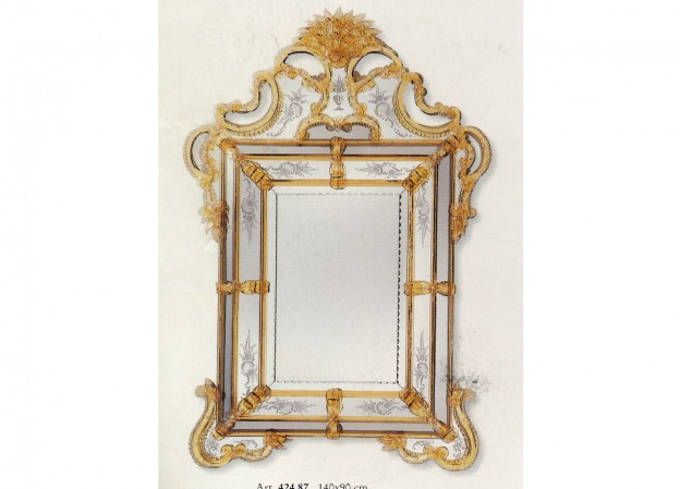Handmade venetian mirror SP424 Murano glass artistic works