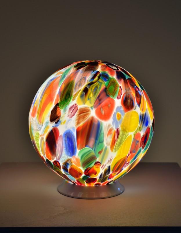 Homemade Venetian Floor Lamps Murano Glass Artistic Works