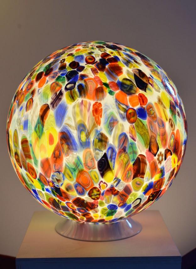 Venetian Floor lamp MUR06 Murano glass artistic works