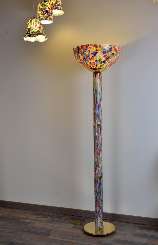 Venetian Floor lamp MUR07 Murano glass artistic works