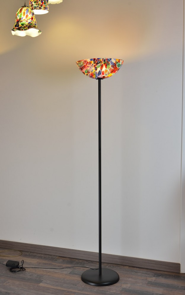 Venetian Floor lamp MUR08 Murano glass artistic works
