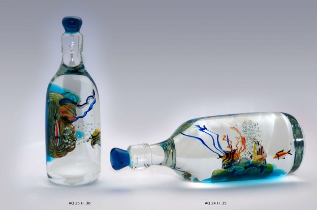 Venetian handmade aquarium AQ24 Murano glass artistic works