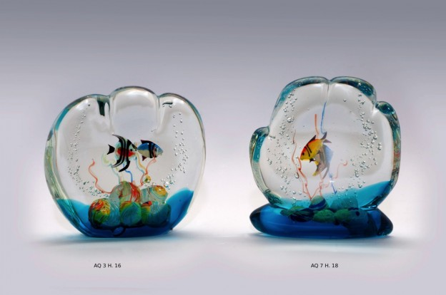Venetian handmade aquarium AQ3 Murano glass artistic works