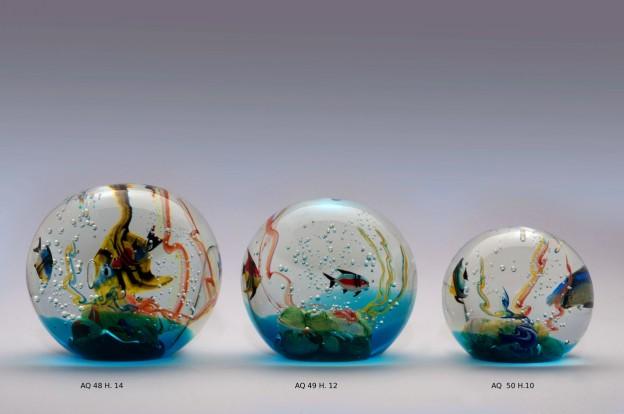 Venetian handmade aquarium AQ48 Murano glass artistic works