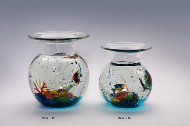 Venetian handmade aquarium AQ51 Murano glass artistic works