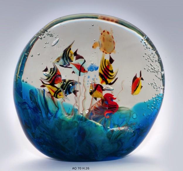 Venetian handmade aquarium AQ70 Murano glass artistic works
