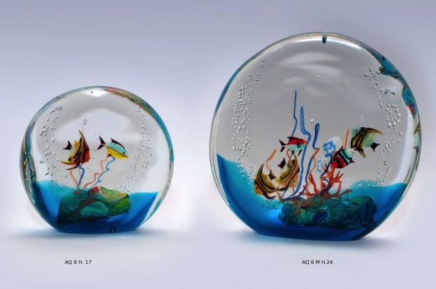 Venetian handmade aquarium AQ8 Murano glass artistic works