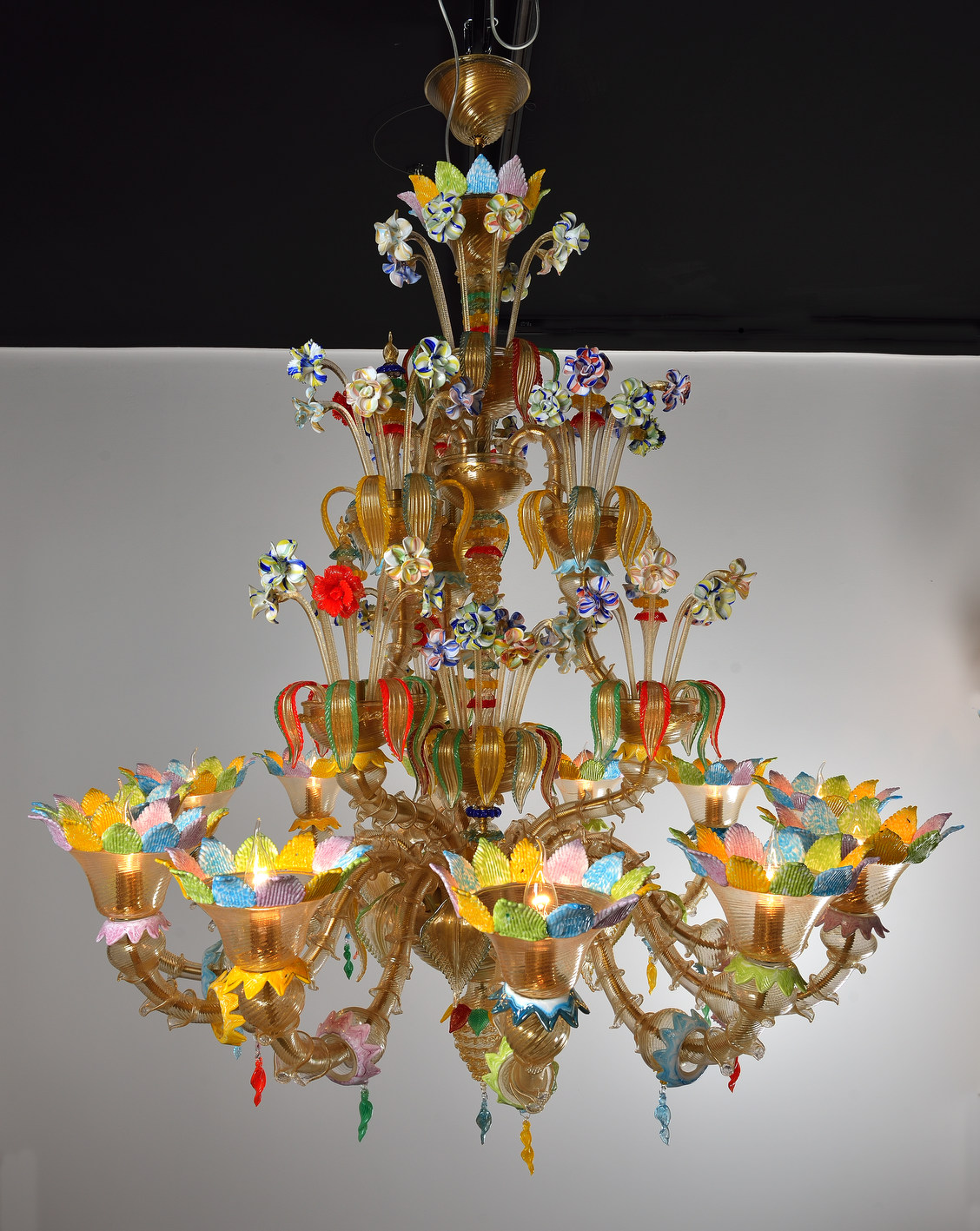 Handicraft venetian chandeliers murano glass artistic works aloadofball Gallery