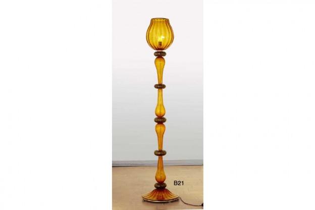 Homemade Venetian floor lamps Antichi Angeli Murano glass artistic works