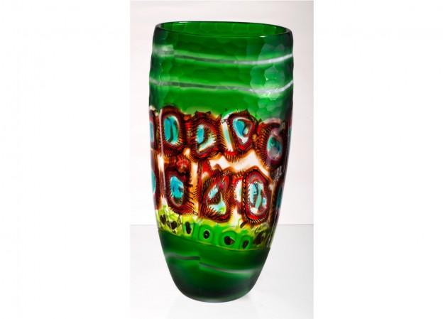 Venetian vases beaten Antichi Angeli Murano glass artistic works