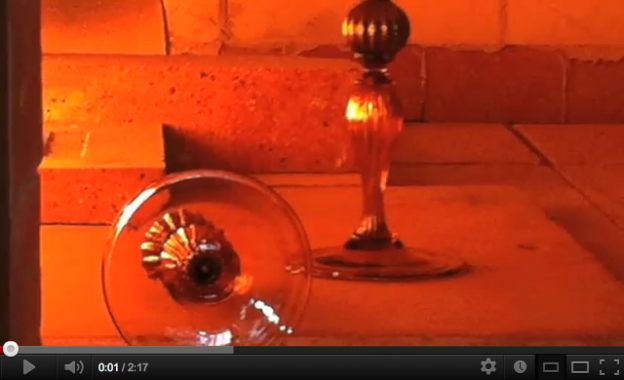 Video of a glass