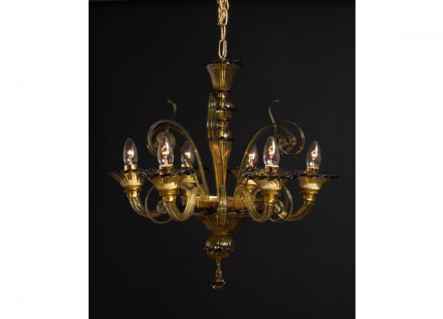 Handicraft Venetian chandelier MICRO Murano glass artistic works