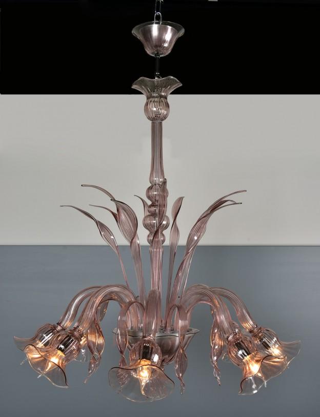 Handicraft Venetian chandelier model MARINO Murano glass artistic works