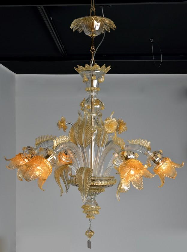 Handicraft Venetian chandelier model SECOLO Murano glass artistic works