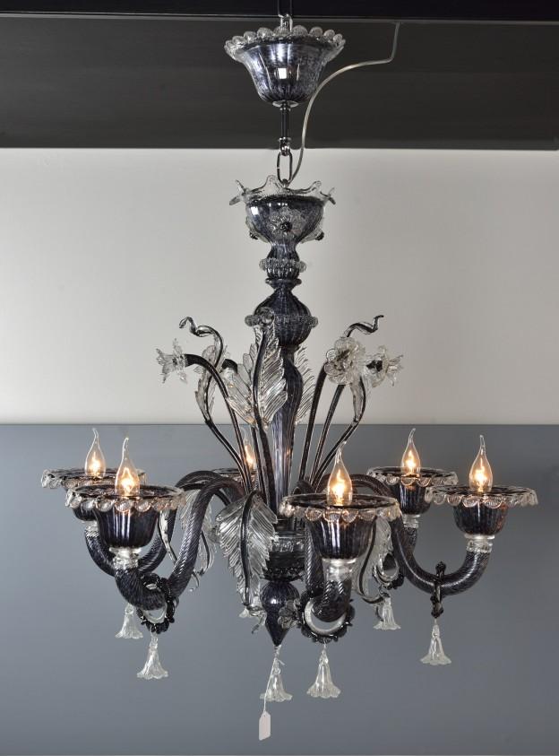 Handicraft Venetian chandelier model VENEZIA Murano glass artistic works