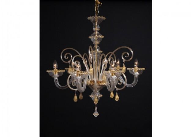 Handicraft Venetian chandelier SATURN Murano glass artistic works
