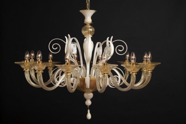 Handicraft Venetian chandelier SIRIO Murano glass artistic works