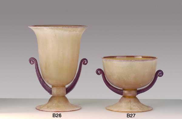 Handicraft Venetian glass vase B26 Murano glass artistic works