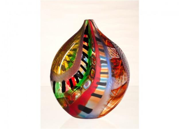Handicraft Venetian glass vase CR1458 Murano glass artistic works
