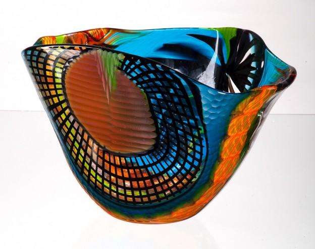 Handicraft Venetian glass vase CR1462 Murano glass artistic works