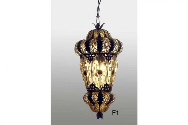 Handicraft Venetian lantern F1 Murano glass artistic works