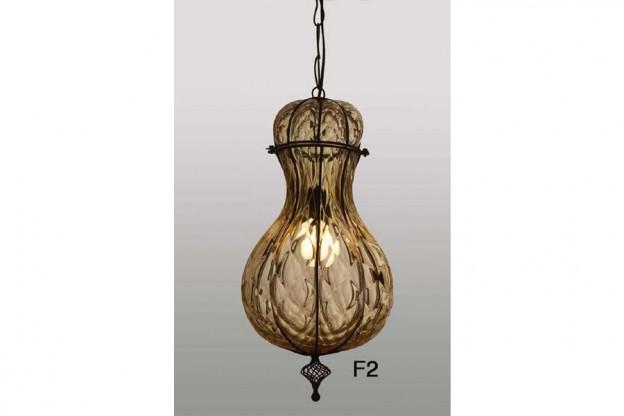 Handicraft Venetian lantern F2 Murano glass artistic works
