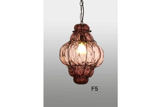Handicraft Venetian lantern F5 Murano glass artistic works