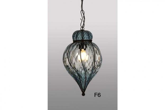 Handicraft Venetian lantern F6 Murano glass artistic works